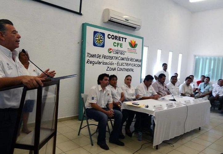 Se llevó a cabo la reunión de Comités Vecinales de Electrificación y Regularización para la Tenencia de la Tierra. (Redacción/SIPSE)