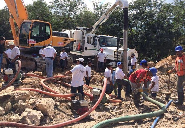 Dada la magnitud del daño, las labores estarán concluidas alrededor de las 23 horas de este martes. (Redacción/SIPSE)
