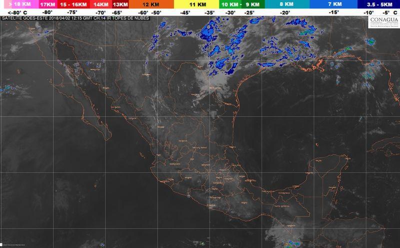Cielo nublado y posibles lluvias se prevén en Quintana Roo