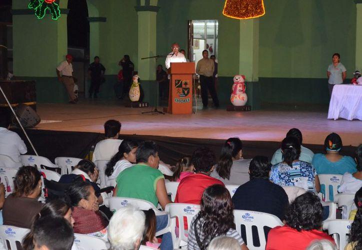 Aspecto del informe de gobierno en Chocholá. (Milenio Novedades)
