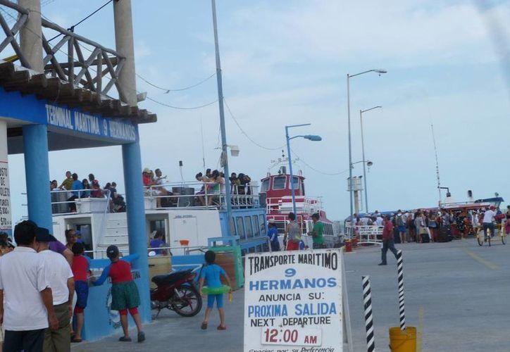 El alcalde de la isla Holbox  informó que no afecta al turismo el bloqueo carretero en El Cedral. (Raúl Balam/SIPSE)
