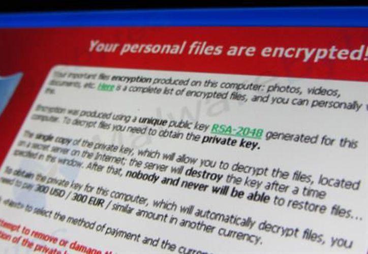 El ransomware encripta la información que se roba y pide un 'rescate' para volver a tener acceso a ella. (La Nación)
