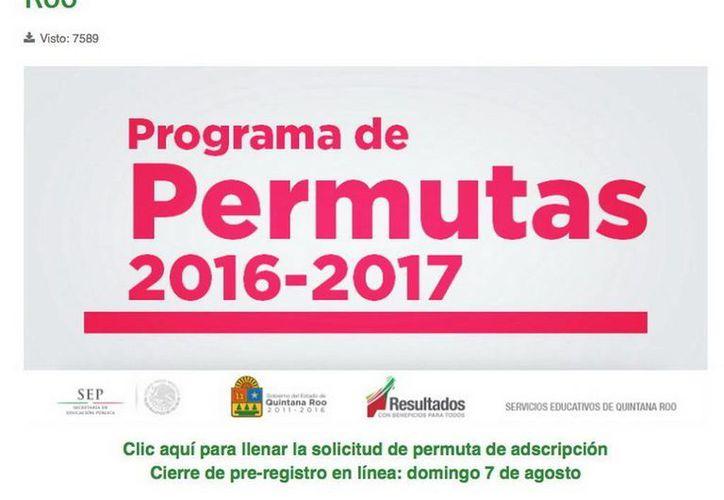 Hoy se lanzó la convocatoria para el Programa de Permutas de Adscripción ciclo escolar 2016-2017 de Quintana Roo. (Redacción/SIPSE)