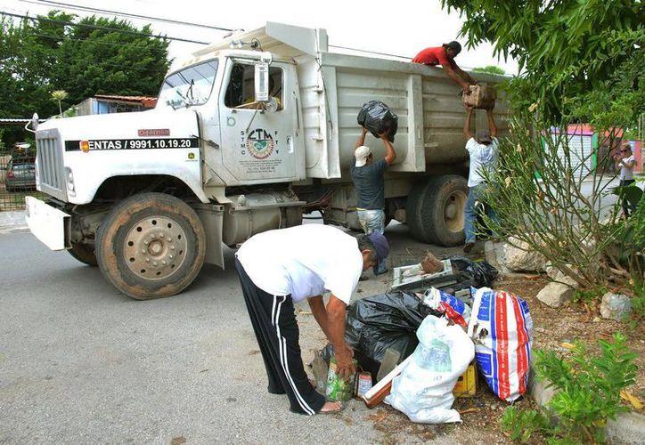 La población colabora con la campaña de descacharrización. (Milenio Novedades)