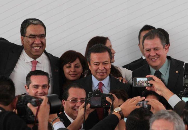 El titular del PRI, César Camacho, aseguró que es inadmisible la impunidad en un estado democrático como México. (Notimex)