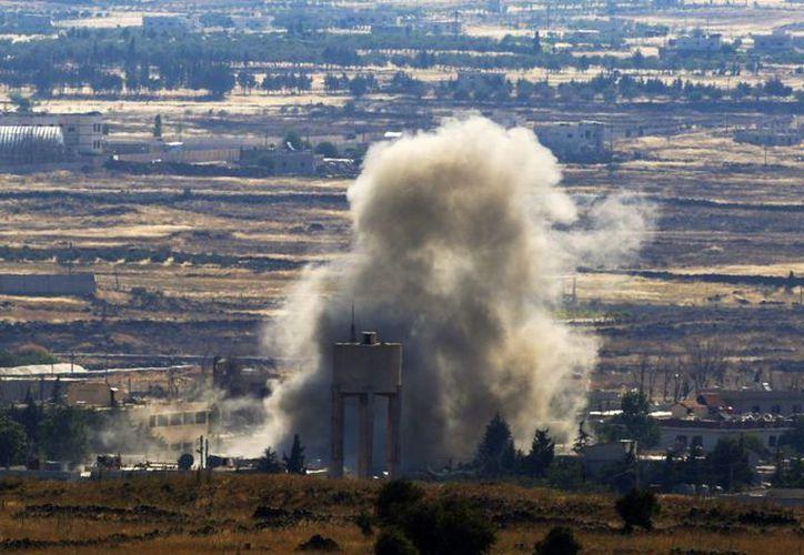 Una columna de humo tras una explosión y un bombardeo en Siria. (Archivo/Siria)