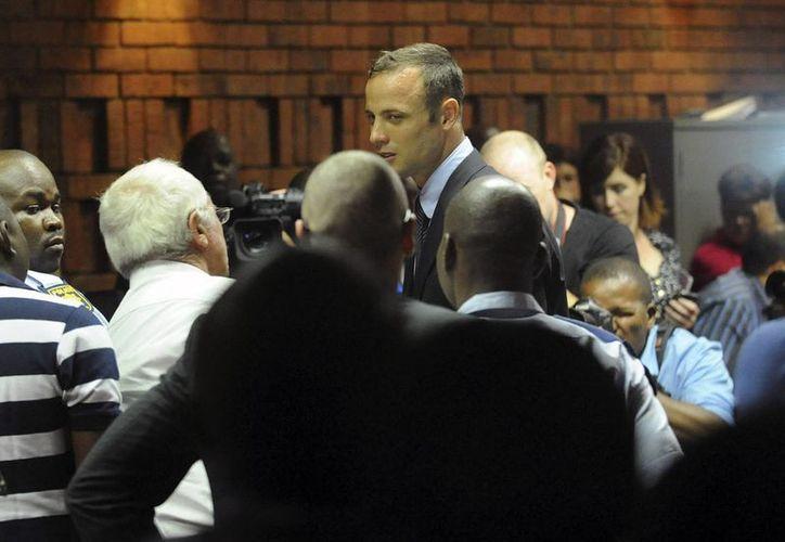 Oscar Pistorius (c) Oscar Pistorius compareció ante los jueces de Pretoria esta mañana. (Agencias)