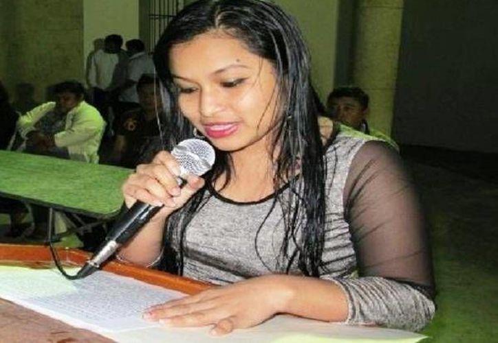 La alcaldesa de Tinum, Natalia Mis Mex. (Facebook)