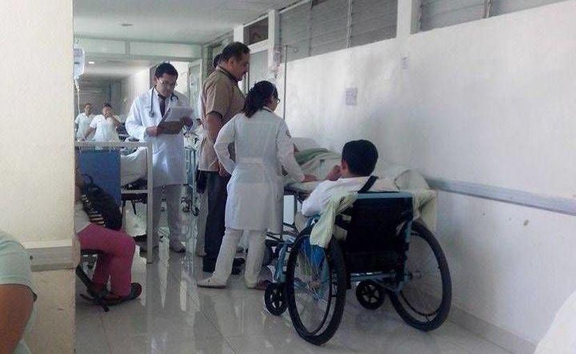 Los médicos determinaron que  la mujer no había sufrido ninguna lesión grave o fractura. (Redacción/SIPSE)