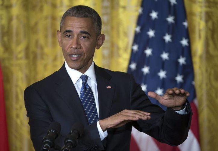 El presidente estadounidense Barack Obama durante una conferencia de prensa. (Archivo/EFE)