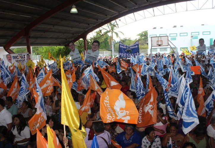 Representantes de partidos políticos a nivel federal entregaron sus informes. (Joel Zamora/SIPSE)