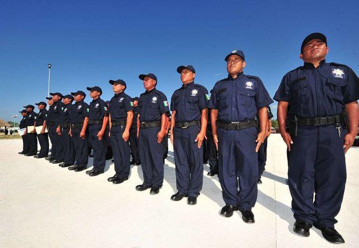 El recurso es usado para el equipamiento de los cuerpos de seguridad pública. (Adrián Barreto/SIPSE)