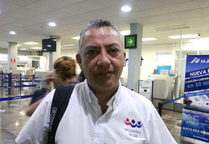 El diputado Carlos Mario Villanueva Tenorio, informó que su padre, el exgobernador Mario Villanueva Madrid se encuentra en observación médica indefinida.  (Enrique Mena/SIPSE)