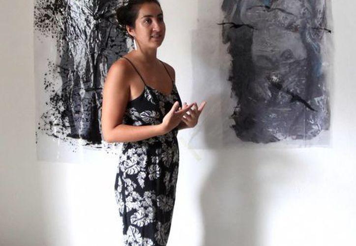 La exposición de Patsy Milena consta de una veintena de cuadros en diferentes formatos. (Amílcar Rodríguez/Milenio Novedades)