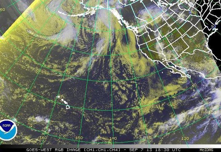 'Lorena' se desplaza hacia el oeste-noroeste, a nueve kilómetros por hora con vientos sostenidos de 55 kilómetros por hora. (ssd.noaa.gov)