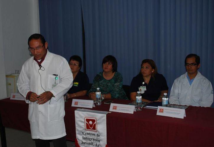 Representantes del Centro de Integración Juvenil presentaron cifras alarmantes de propensión a la drogadicción de afiliados al IMSS. (Tomás Álvarez/SIPSE)