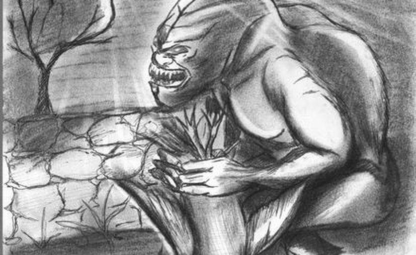 Retrato hablado del maligno ser que se aparece en el monte. (Jorge Moreno/SIPSE)