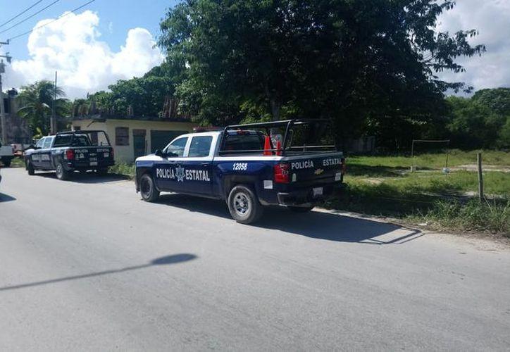 Los primeros respondientes fueron elementos de la Policía Estatal quienes acordonaron la zona para evitar que se contamine el sitio. (Redacción/SIPSE)