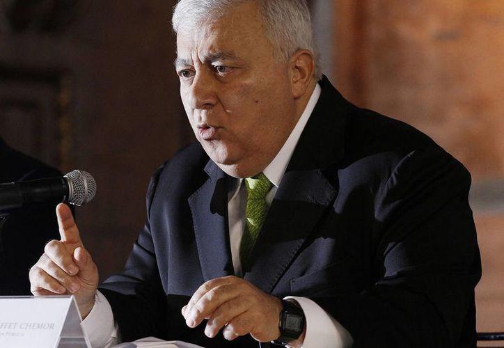 """""""El problema de Oaxaca es que no se aplica la ley. Debemos buscar esquemas para que la federación la aplique"""", afirmó Emilio Chuayffet. (Archivo/Notimex)"""