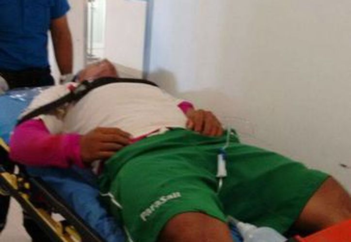 Entre la vida y la muerte se debate Carlos N, de 22 años, originario de Chiapas. (Redacción/SIPSE)