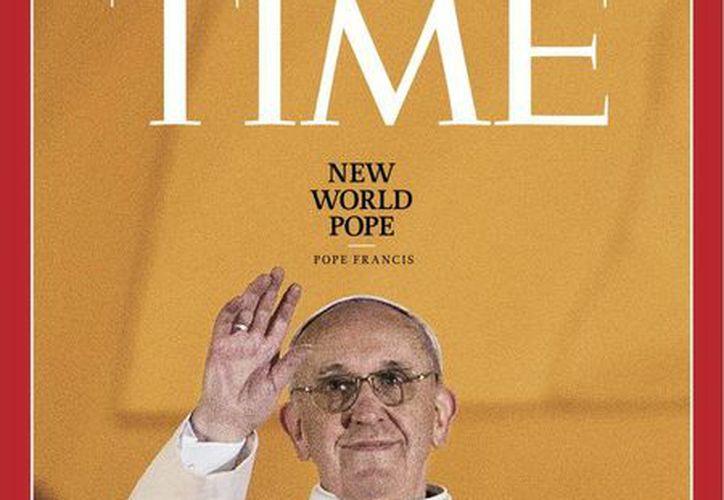 El papa Francisco ocupa el tercer lugar de los 10 hombres más importantes del mundo en 2013. (Internet)