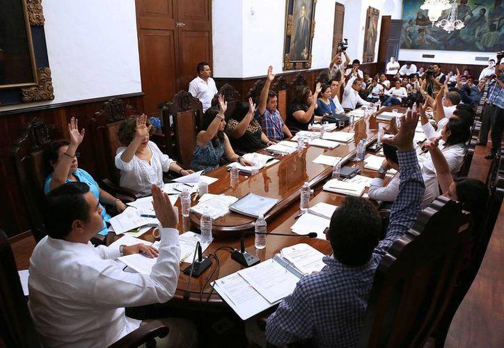 Aspecto de la sesión de Cabildo de Mérida celebrada el miércoles. (SIPSE)