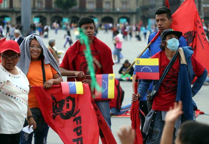 En México, la movilización es organizada por la Coordinadora Mexicana de Solidaridad con Venezuela.  (Agencia Reforma)