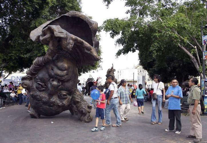 Vainilla, Córdoba y Chiapas son los nombres de cada una de las esculturas presentadas en la exhibición. (Theani Ruz/SIPSE)