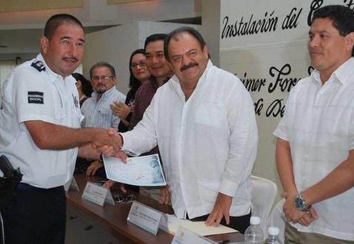 Actores de la administración pública estuvieron presentes en la instalación del Coplademun. (Cortesía/SIPSE)
