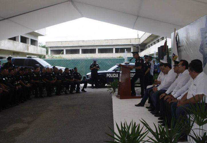 Inauguran las oficinas de la Policía Federal en Playa del Carmen. (Loana Segovia/SIPSE)
