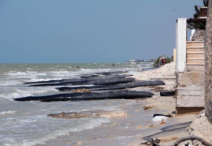Propietarios de predios colocan espigones con el afán de frenar la erosión, pero crean otro problema, señala la Seduma. (Milenio Novedades)