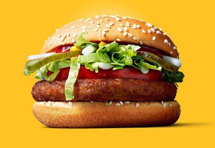 McVegan es una hamburguesa 100 por ciento basada en vegetales. (López Dóriga Digital)