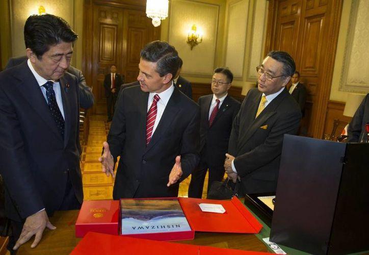 El japonés Shinzo Abe declaró que México y Japón comparten los mismos valores fundamentales. (presidencia.com.mx)