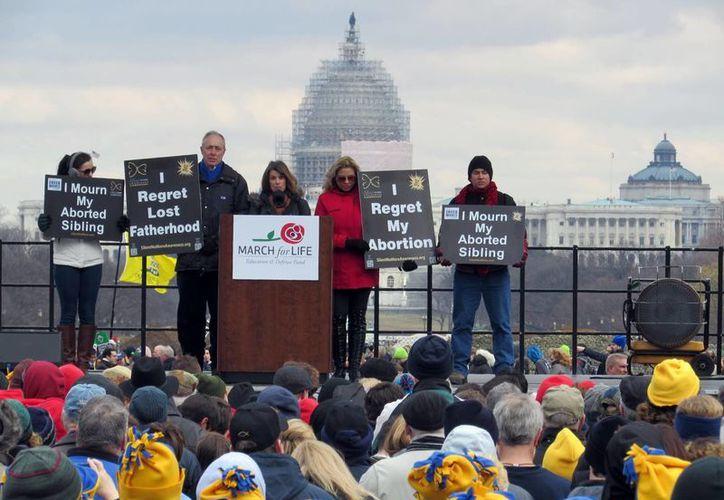 La Marcha por la Vida ha sido la más número de su historia. (Milenio Novedades)