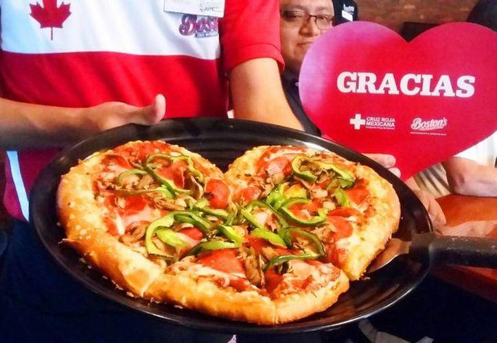 Las pizzas en forma de corazón se venderán del 9 al 14 de febrero. (Foto: Daniel Pacheco)