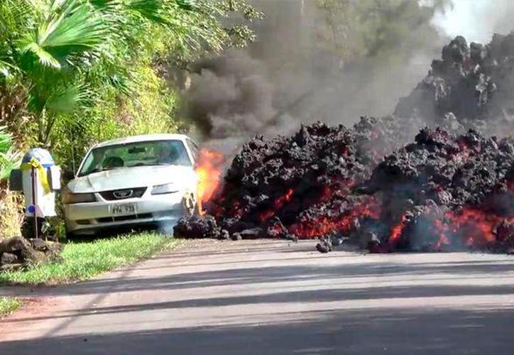 Ríos de lava se expanden sin control por el sur de Hawai. (La República)