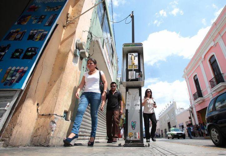 El Ayuntamiento de Mérida ha retirado poco más de 140 casetas del Centro Histórico, lo cual forma parte de un Plan para mejorar la movilidad urbana. (Foto cortesía del Ayuntamiento de Merida)