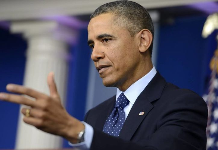 El presidente Obama durante una rueda de prensa en la Casa Blanca. (EFE)