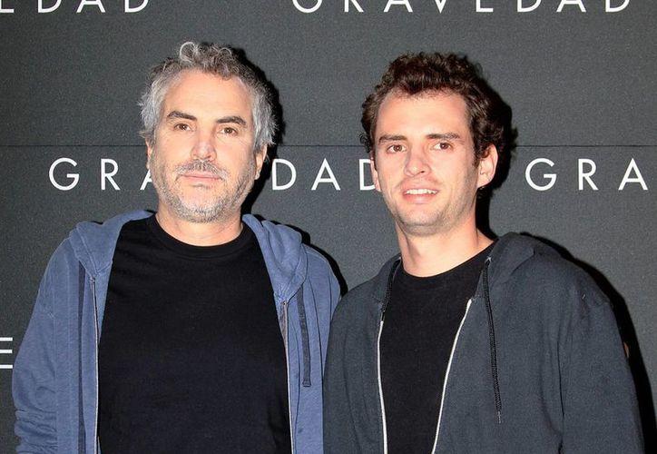 """Alfonso (d) y Jonás Cuarón fueron nominados por Mejor Guión en cine por """"Gravity"""" . (Archivo Notimex)"""