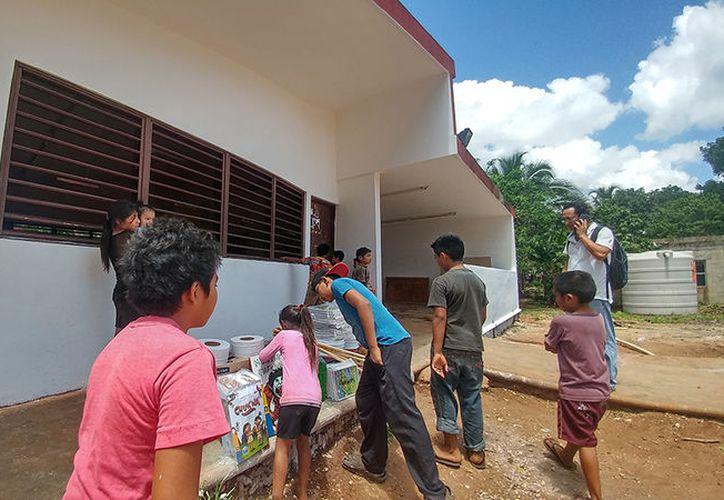 Buscan mejorar las instalaciones educativas en La Esperanza. (Imágenes: José Acosta/Milenio Novedades)