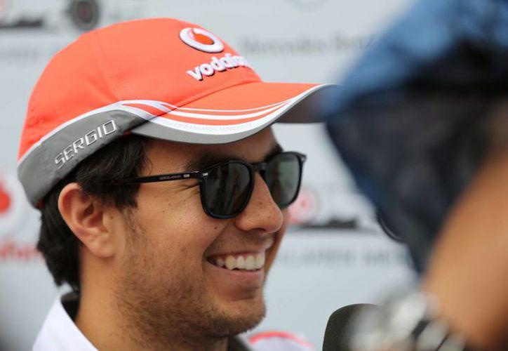 Sergio 'Checo' Pérez, de la escudería McLaren Mercedes en el autódromo de Interlagos, en Sao Paulo (Brasil).