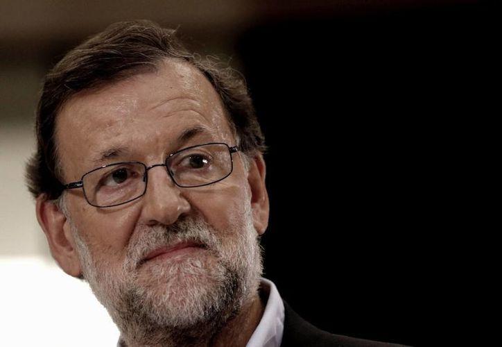 Mariano Rajoy obtuvo el respaldo de Ciudadanos, un partido de centroderecha de creación reciente. (Archivo/Notimex)