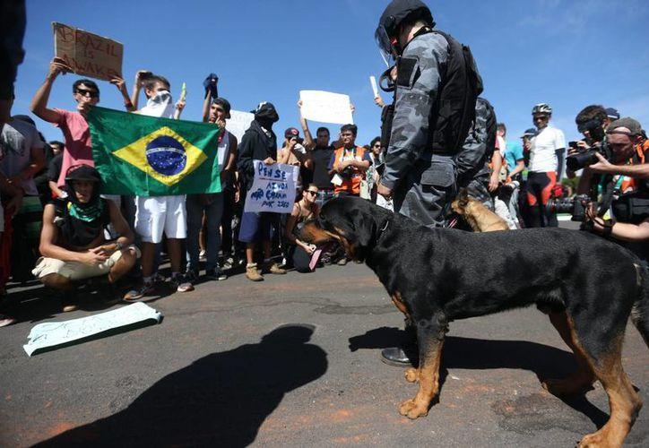 Brasil vive desde hace varios días una oleada de protestas. (EFE)