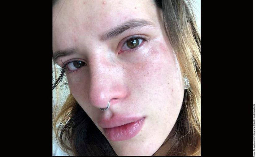 Bella Thorne (foto) terminó en febrero su relación poliamorosa con Tanya Mongeau, quien está prometida con el youtuber Jake Paul. (Agencia Reforma)