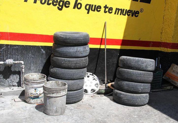 Buscarán dar un buen destino final a los cientos de neumáticos inservibles. (Tomás Álvarez/SIPSE)