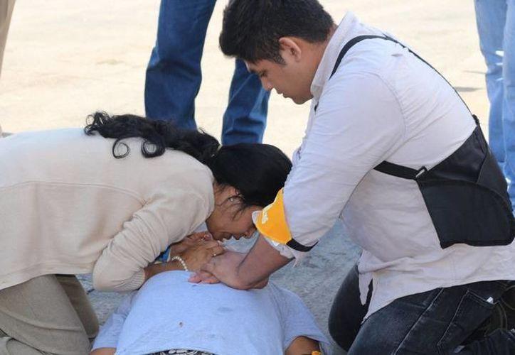 Integrantes de la Secretaría de Seguridad Pública (SSP) salvaron la vida de una estudiante menor de edad. (SIPSE)