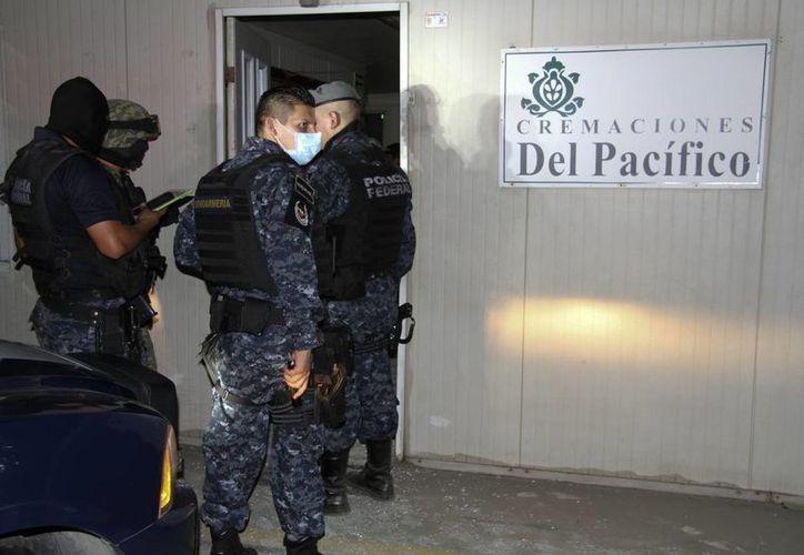 Los cuerpos fueron encontrados en Cremaciones Pacifico, lugar que se encontraba abandonado. (Agencias)