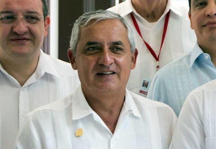 El Presidente guatemalteco estuvo recientemente en Mérida en  la cumbre de la Asociación de Estados del Caribe. (Milenio Novedades)