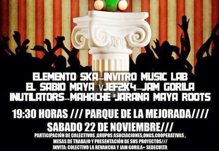 Imagen del póster del evento que se realizará mañana sábado en el Parque de Mejorada. (Facebook)