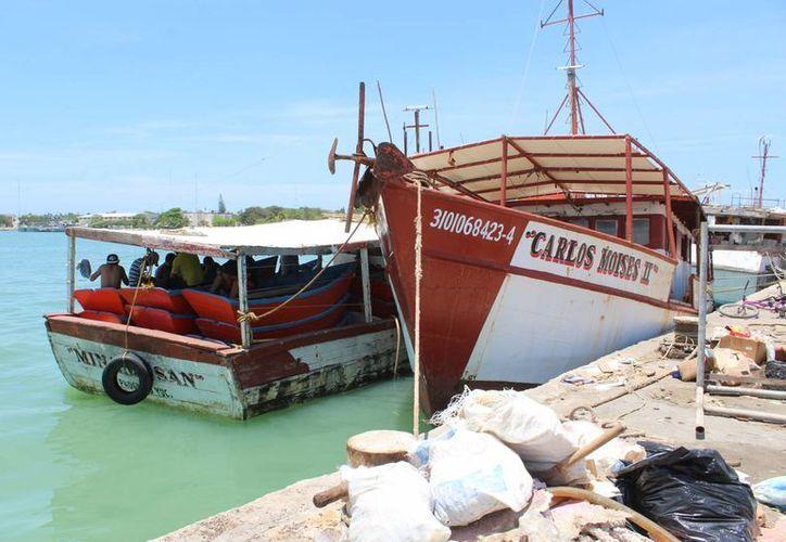 Se estima que los pescadores que participan en el 'guteado' obtienen ganancias de aproximadamente cuatro mil pesos por viaje. (Gerardo Keb/Milenio Novedades)